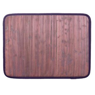Pared roja vieja del granero del plankd funda para macbook pro