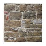 Pared romana antigua de la torre de la señal azulejo