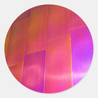 Pared rosada etiquetas redondas