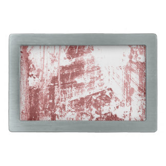 Pared sucia, rojo oxidado hebillas de cinturon rectangulares