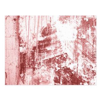 Pared sucia, rojo oxidado tarjetas postales