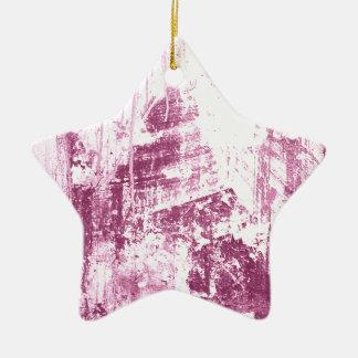 Pared sucia, rosada adorno de cerámica en forma de estrella