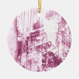 Pared sucia, rosada adorno redondo de cerámica