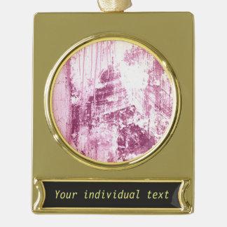 Pared sucia, rosada adornos personalizables