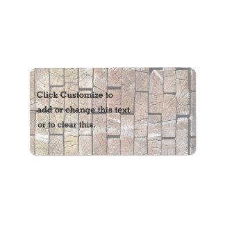 Pared temática, textura de la pared de ladrillo en etiqueta de dirección