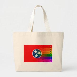 Pared Tennessee del arco iris Bolsa Tela Grande