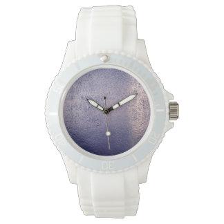 Pared texturizada azul relojes de pulsera