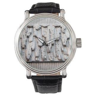 pared texturizada dominante reloj de mano
