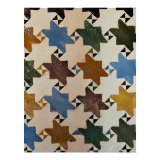 Pared Tile#5 de Alhambra Membretes Personalizados