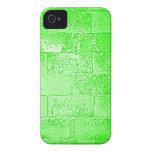 Pared verde. Digitaces Art. iPhone 4 Protectores