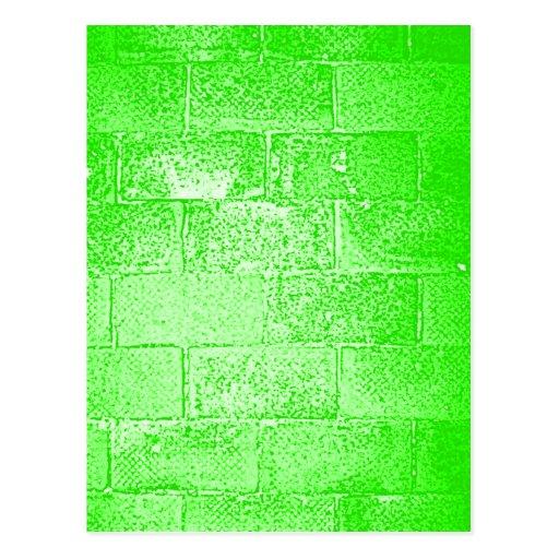 Pared verde. Digitaces Art. Tarjetas Postales