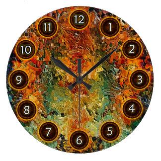 Pared vieja por el rafi talby reloj redondo grande