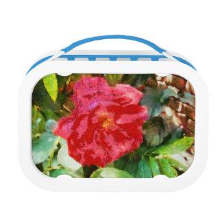 Pared y rosa rojo