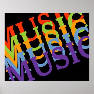 paredes coloridas musicales póster