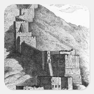 Paredes de Antioch, 1894 Pegatina Cuadrada