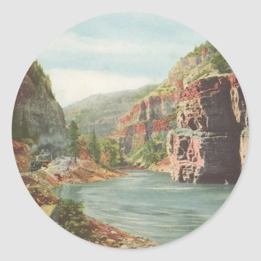 Paredes de Canon, río magnífico (barranco) Pegatinas Redondas