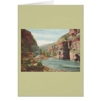 Paredes de Canon, río magnífico (barranco) Tarjeta De Felicitación