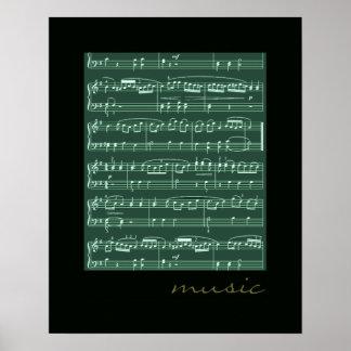 paredes decorativas de las notas musicales posters