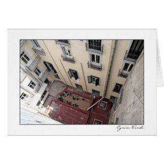 Paredes del apartamento de Nápoles Tarjeta De Felicitación