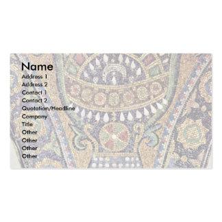 Paredes interiores de la roca en florero de la esc tarjetas personales