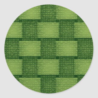 Paredes - verdosas etiqueta redonda