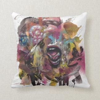 Pareidolia 1 throw pillow