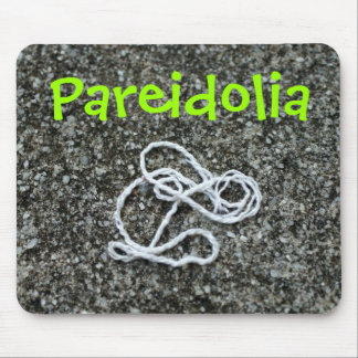 Pareidolia rabbit mouse pad