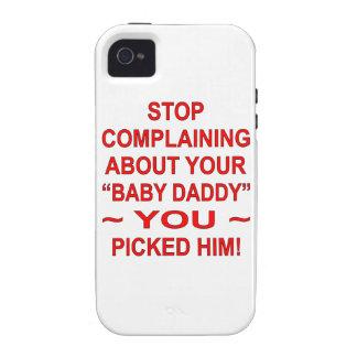 Párele quejándose por su papá del bebé selección Case-Mate iPhone 4 funda