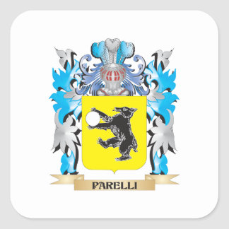 Parelli Coat of Arms - Family Crest Square Sticker