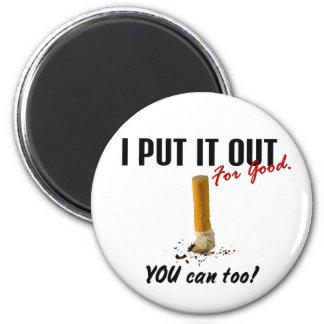 Páreme el fumar lo ponen hacia fuera que usted pue imán de frigorifico