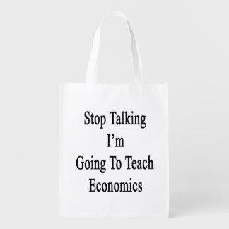 Páreme el hablar van a enseñar a la economía bolsa para la compra