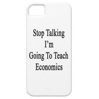Páreme el hablar van a enseñar a la economía iPhone 5 Case-Mate funda