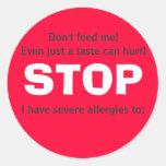 ¡PÁREME, no alimente! Pegatinas