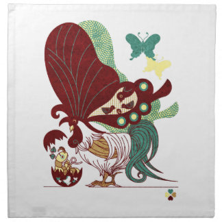 Parent and child of chicken butterfly (Parent-chil Cloth Napkin