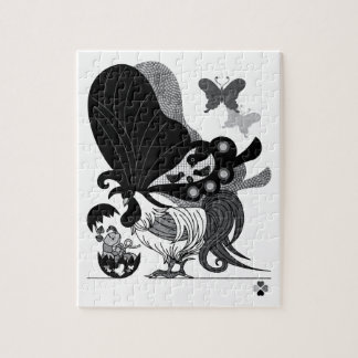 Parent and child (Parent-child Butterfly chicken) Jigsaw Puzzle