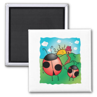 Parent and kid! 2 inch square magnet