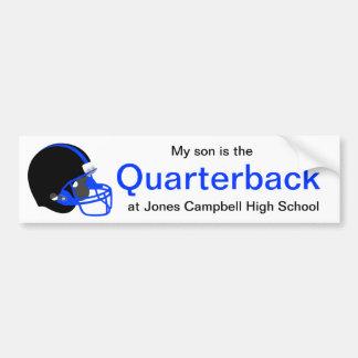Parent Blue and Black Football Bumper Sticker