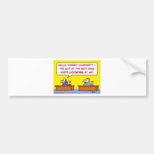parent company car bumper sticker