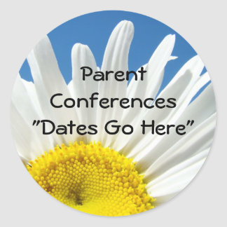 Parent Conferences Dates stickers School Meetings