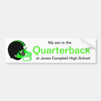 Parent Green and Black Football Bumper Sticker
