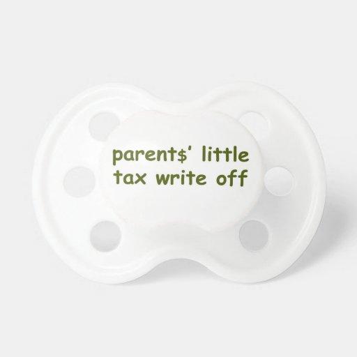 parent$' little tax write off pacifier