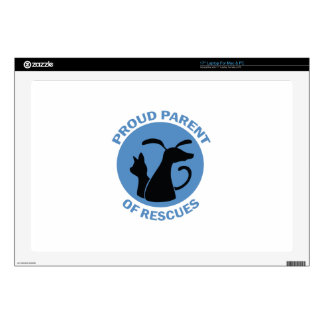 PARENT OF RESCUES DECALS FOR LAPTOPS