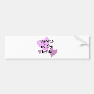 Parent of the Bride Bumper Sticker