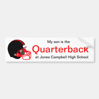 Parent Red and Black Football Bumper Sticker