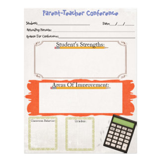 Parent-Teacher Conference Organizer Sheet