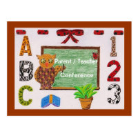 Parent/teacher conference reminder postcard 3