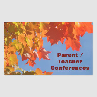 Parent Teacher Conference stickers Bright Leaves