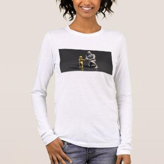 Parent Teaching Child as a Concept in 3D Long Sleeve T-Shirt