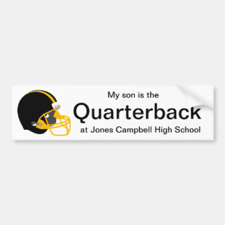 Parent Yellow and Black Football Bumper Sticker