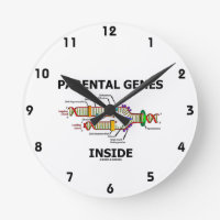 Parental Genes Inside (DNA Replication) Round Wallclock